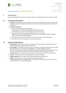 Zielvereinbarung-Quartalsgespraech